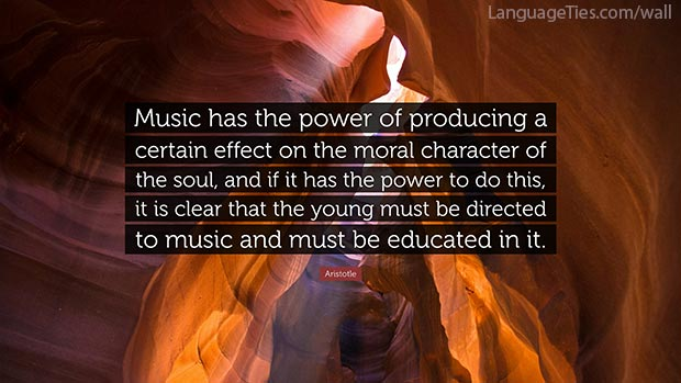 Music has the power of producing a certain effect on the moral character of the soul, and if it has the power to do this, it is clear that the young must be directed to music and must be educated in it.