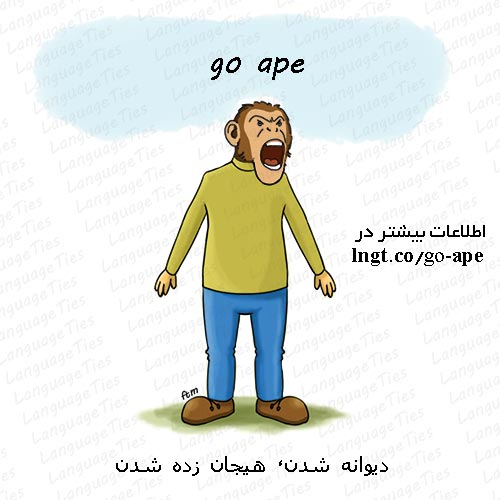 go ape - عصبانی، هیجانی شدن