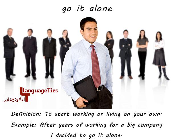 go it alone - کاری را به تنهایی انجام دادن