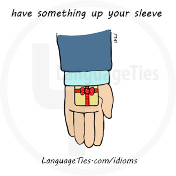 have something up your sleeve - رو نکردن