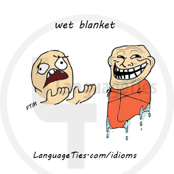 wet blanket - ضد حال