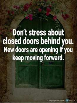 Don't Stress about Closed Doors