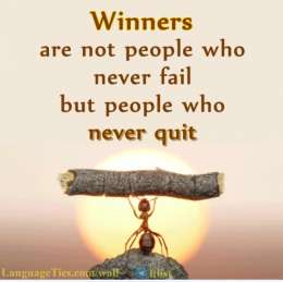 Winners Are Not People Who
