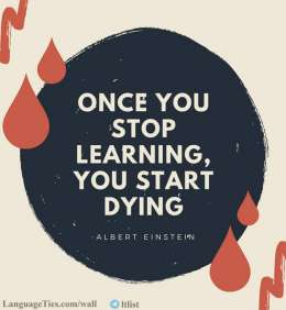 Once You Stop Learning